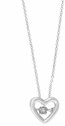 Effy Dancing Diamond 14K White Gold Heart Necklace