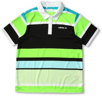 adidas Kids - Fashion Performance Enginerred Stripe Polo (Big Kids) (White/Glow/Black/Moonrock/Mint) - Apparel