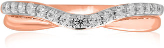 MODERN BRIDE 10K Rose Gold CT. T.W. Diamond Bump Wedding Band $833.32 thestylecure.com
