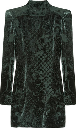 Balmain Devoré-velvet mini dress