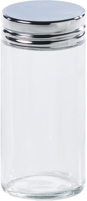 Container Store 3 oz. Glass Spice Bottle Chrome Lid
