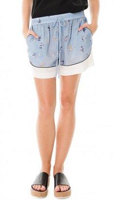 Tibi Rio Drawstring Shorts