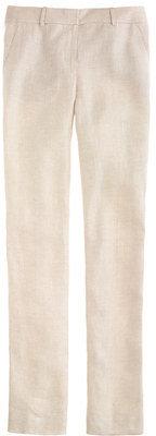 J.Crew Petite Bristol trouser in herringbone linen