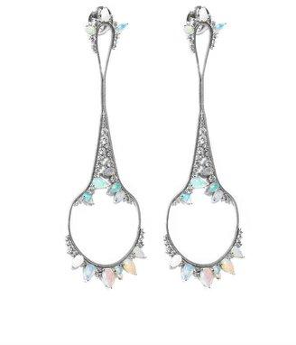 Fernando Jorge Diamond, opal & gold electric earrings