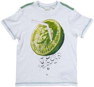 Diesel Lime Graphic T-Shirt