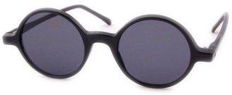Vintage Sunglasses Smash PHONOGRAPH Deadstock Round Sunglasses - Black