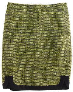 J.Crew Shirttail mini in piped tweed