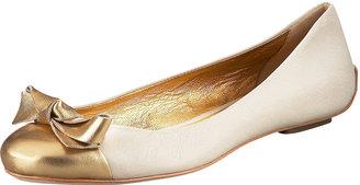 Kate Spade Tabby Cap-Toe Ballerina Flat
