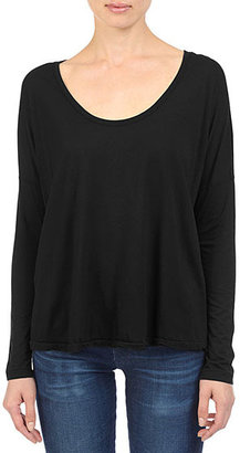 AG Jeans The Boxy Scoop Tee - Black