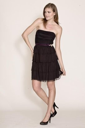 Corey Lynn Calter Gloria Ruched Strapless Dress in Onyx