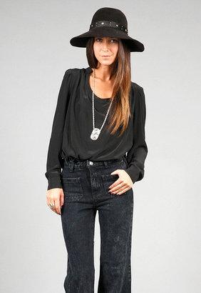 Chelsea Flower Cowl Top in Black -