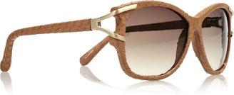 Linda Farrow D-frame watersnake sunglasses