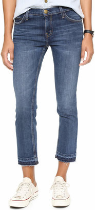 Current/Elliott The Cropped Straight Leg Jeans $228 thestylecure.com