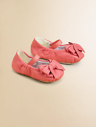 Bloch Infant's Ayva Leather Bow Ballet Flats