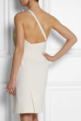 Roland Mouret One-shoulder Wool-blend Dress - Cream