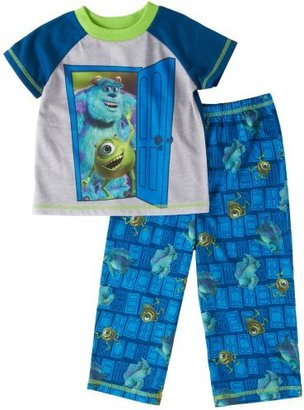 Disney Boys 2-7 Say Hi To The Monsters Short Sleeve Pajama Set