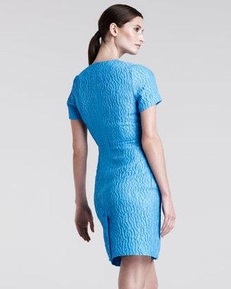 Jonathan Saunders Helen Jacquard Sheath Dress
