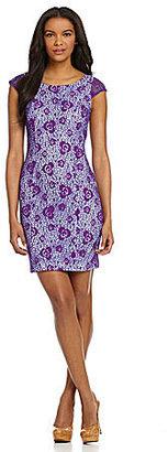 Marc New York Lace Cap-Sleeve Dress