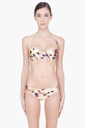 We Are Handsome yellow cheetah-print Corset Bikini