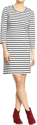 Old Navy Women's Striped 3/4-Sleeve Dresses