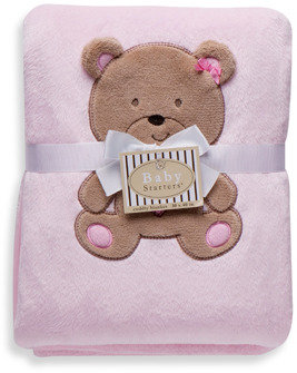 Baby Starters Cuddly Bear Blanket in Pink