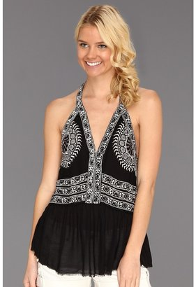 Free People Crossing The Border Tank (Black Combo) - Apparel