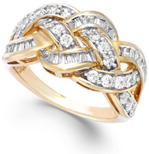 Wrapped in Love Diamond Woven Ring in 10k Gold (1 ct. t.w.), Created for Macy's