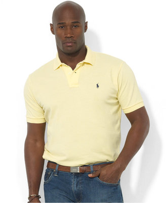 Polo Ralph Lauren Men's Big and Tall Classic-Fit Cotton Mesh Polo