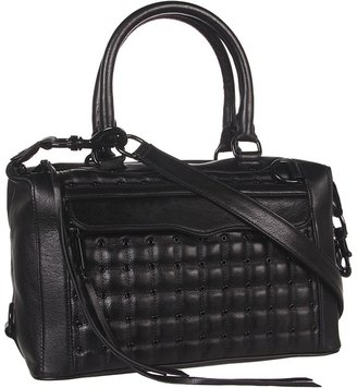Rebecca Minkoff Mab Mini with Eyelets (Black) - Bags and Luggage
