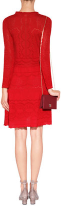 Alberta Ferretti Wool Dress in Red