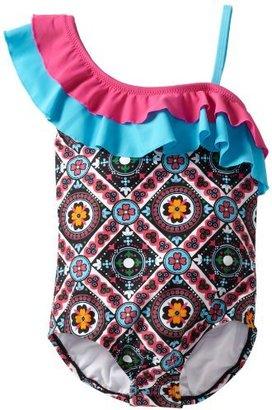 Hartstrings Girls 7-16 1 Piece Asymmetrical Swimsuit