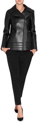 Jil Sander Leather Jacket in Black