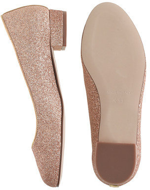 J.Crew Girls' Janey glitter flats
