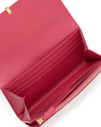 Saint Laurent Classic Y-Ligne Large Flap Wallet, Pink