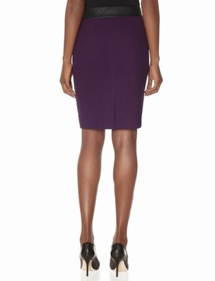 The Limited Jacquard Faux Leather Waist Pencil Skirt