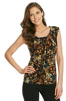 Kasper Pleated Printed Cami