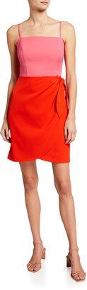 Marissa Sleeveless Cady Combo Dress