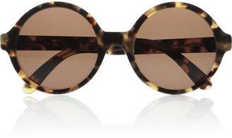 Illesteva Sophia round-frame acetate sunglasses
