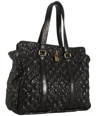 Marc Jacobs black quilted leather 'Leon' tote