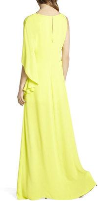 BCBGMAXAZRIA Janus One-Shoulder Gown