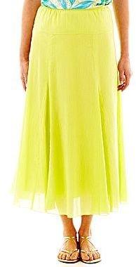 JCPenney Lark Lane® Crinkle Gauze Gored Skirt