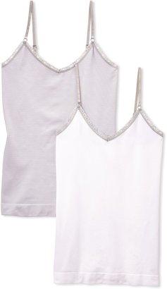 Billet Doux Women's Striped Underwear - White - Blanc/Blanc/Gris - 8 (Brand size: 34/36)
