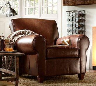 Pottery Barn Manhattan Leather Club Chair