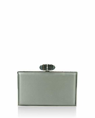 Judith Leiber Couture Satin Coffered Rectangle Clutch Bag, Platinum $2,195 thestylecure.com