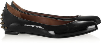 McQ by Alexander McQueen Studded patent-leather ballet flats