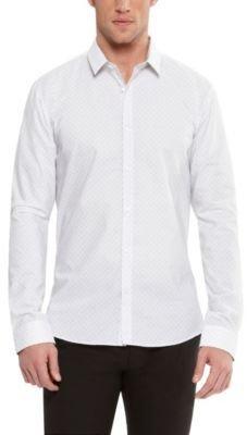 HUGO BOSS 'Ero' - Slim Fit, Cotton Button Down Shirt with Eyeglasses Print