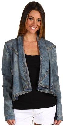 BCBGMAXAZRIA Light Weight Denim Twill Jacket (Vintage Blue Wash) - Apparel
