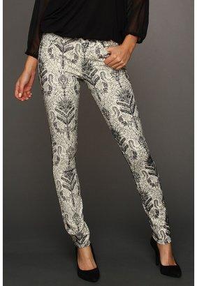 Joe's Jeans The Skinny in Baroque Flocked Super Chic (White/Black) - Apparel