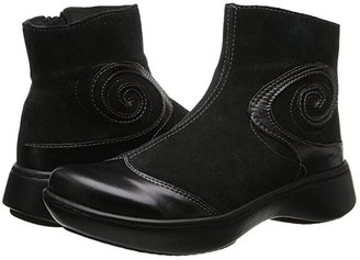 Naot Footwear Oyster (Black Suede/Black Madras) Women's Zip Boots