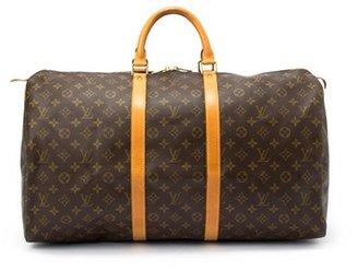 Louis Vuitton Pre-owned: brown monogram canvas 'Keepall 55' bag